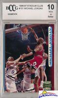 1996/97 Topps Stadium Club #101 Michael Jordan BECKETT 10 MINT Chicago Bulls HOF