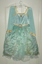 EUC Disney Store Girls PRINCESS MERIDA Brave Lt Blue Dress Costume Sz 9/10