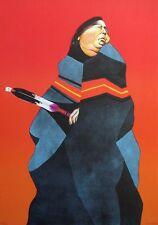 "Ed Singer ""Indian Fan"" Hand Signed Artwork Lithograph Native American Make Offer"