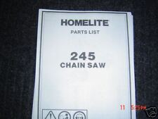 Homelite 245 chainsaw parts list