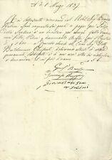 Ricevuta di Consulenza Vendita Villa di Arcetri in Firenze presunta Galileo 1837