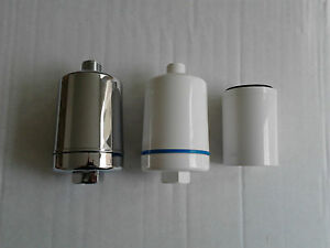 inline shower water filter chlorine heavy metal remove shower head