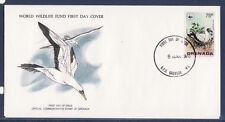 WWF enveloppe 1er jour   Grenada  oiseau le fou bleu