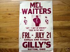 Mel Waiters boxing style poster blues Gilly's Dayton Oh