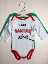 2 Pack of Christmas Body Suit's Size ~ 3/6 Months By Modern Baby 100% Cotton NWT