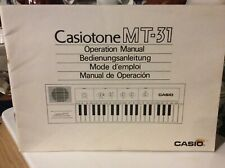 Casio MT-31 Casiotone Keyboard Original Owner's User's Operating Manual MT31