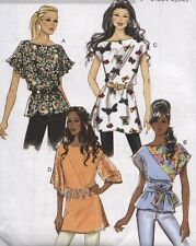 Butterick 5463 Sewing Pattern Loose Fitting Pullover Tunic~Top~Sash Szs 16-22 UC