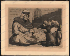 Jacob Eisenberg-Gerusalemme-MATITA FIRMATO - 1897-1966 - hand signed etching - 1