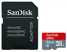 SanDisk 32GB Ultra MicroSDHC UHS-I Class 10 Memory Card with Adapter