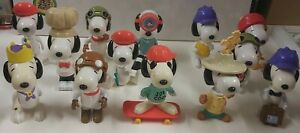 Snoopy McDonalds Peanuts Toy Large 17cm Figurine - 2000 - Lot of 13 toys -