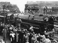 PHOTOGRAPH LOCOMOTIVE TRAIN STEAM OLIVER CROMWELL ENGINE LV3546