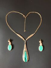 1001 NIGHTS QUEEN SULTANA DUBAI NECKLACE NATURAL NEON COLOMBIAN EMERALD SET