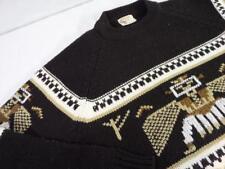 vintage 1960s indian SILTON knit sweater XL aztec cowichan totem pole