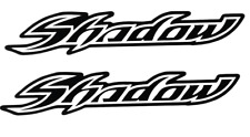 HONDA SHADOW OUTLINED TANK FENDER STICKERS DECALS (2x)