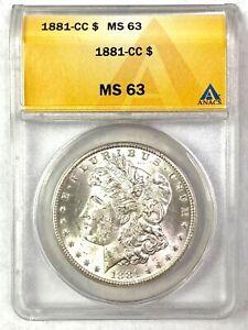 1881-CC Morgan Silver Dollar - BLAZER - ANACS MS63