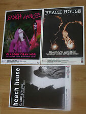 Beach House - Scottish tour Glasgow concert gig posters x 3