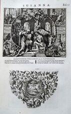 C21-9b-57 Gravure religieuse 17e néerlandaise Susanna - H. Jacobus Basnage