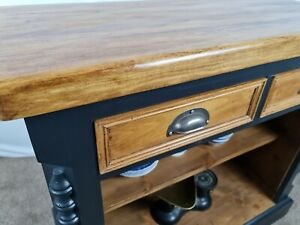 Vintage Rustic Kitchen Cupboard Island Prep Table/ Console Table Sideboard