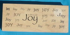 "Great Impressions background rubber stamp ""JOY TO THE WORLD"" Christmas holidays"