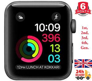 Apple Watch Series 0/1/2/3/4, 38mm/42mm, Black/Grey/Silver, Aluminium/Sport Case