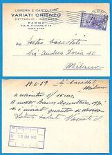 ITALIA 1953 - CARTOLINA COMMERCIALE - Libreria e Cartoleria - Variati Orienzo