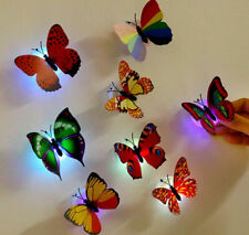 10PCS 3D Butterfly Wall Decal Magnet Removable Sticker Kids Nursery Decoration