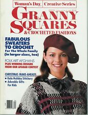 Vintage Woman's Day Granny Squares & Crocheted Fashions Winter 1987/88