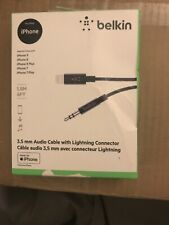 Belkin 3.5mm Audio Cable with Lightning Connector For iPhone 6 Feet