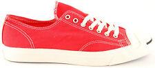 Converse Mens Jack Purcell LTT GARM DYE OXTO Shoes Tomato White Size UK 10 BCF51
