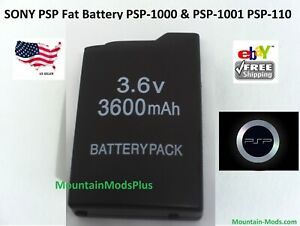 Rechargeable Replacement Battery 3600mAh Fits Sony FAT PSP-110 PSP-1001 PSP 1000