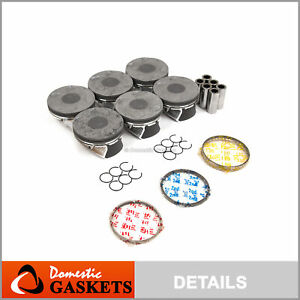 Pistons and Rings fit 11-16 Chrysler 200 300 Dodge 1500 Jeep Ram VW 3.6 DOHC 24V