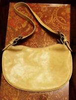 STEVE MADDEN Tan Leather Purse, Adjustable Shoulder Strap Cute Handbag!
