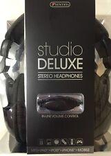SENTRY 870CDBK Studio Deluxe Stereo Headphones, HO871 4' Cord Length New!