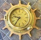 Vintage CHEESEA CLOCK CO Boston Brass Porthole Clock Works