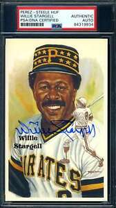 Willie Stargell PSA DNA Coa Hand Signed Perez Steele Postcard Autograph