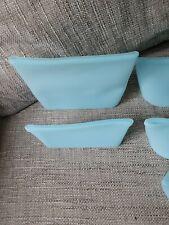 Resealable Silicone Bag, BPA Free, Microwave Dishwasher Freezer Safe, Blue 8pcs