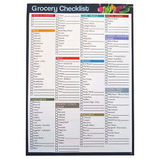 A4 Grocery / Shopping Checklist Organiser Notepad - 75 Sheets - 297 x 210mm