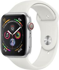Apple Watch Series 4 44mm Cellular Silver White Sports Band NEW