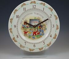 Royal Doulton England Bunnykins Teaching Clock Working !