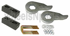 "Lift Kit Chevy Torsion Keys 2"" Cast Steel Blocks 1999 - 06 6 Lug 4x4 Trucks"