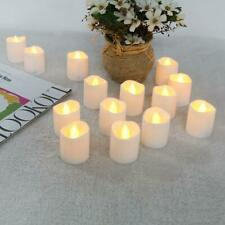 12pcs Irregular LED Flickering Tea Light Warm White Flame less Fake Candle Decor