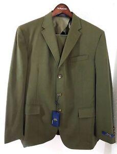 $1295 Polo Ralph Lauren Wool Custom 3 Buttons Fit Blazer Pants Suit 46 R Regular