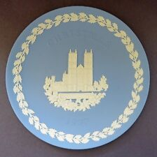 Wedgwood Jasperware 1977 Christmas Plate: Westminster Abbey