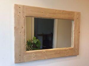 *Beautiful quality handmade chunky rustic wooden mirror*