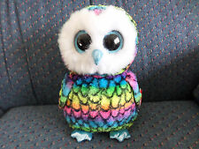 """Ty Beanie Boos Buddy ~ Aria the 8-9"""" Medium Size Owl - Claires Exclusive Mwmt"""