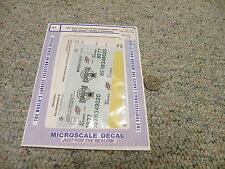 Microscale  decals HO MC-4054 Chicago Northwestern DASH C-4--8 Safety   C33