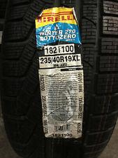1 New 235 40 19 Pirelli Winter 270 Sotto Zero Serie II Snow Tire