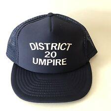 Vintage Snapback Trucker Hat Baseball Themed Umpire Mesh Streetwear