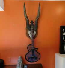Antique African Eland Skull & Guitar Hanger. Vintage 1929 taxidermy
