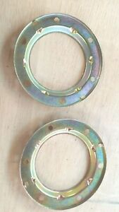 79-83 DATSUN 280ZX HORN TRIM BEZEL RINGS RE-PLATED NICE OEM PARTS